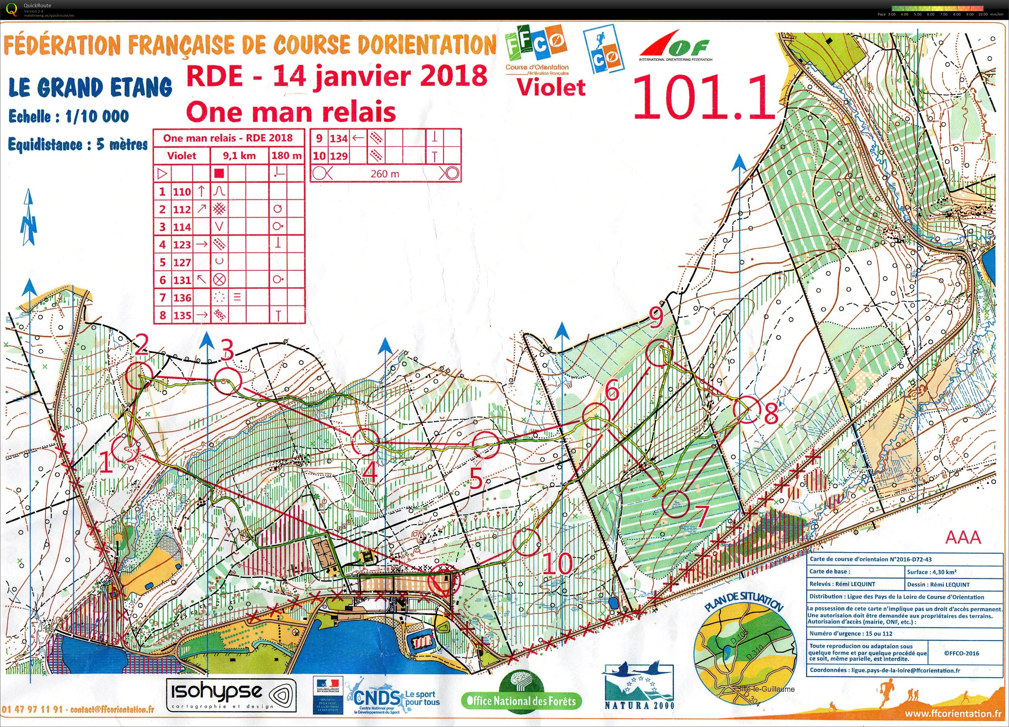 Carte 1 one-man relais RDE Sillé le Guillaume (14-01-2018)