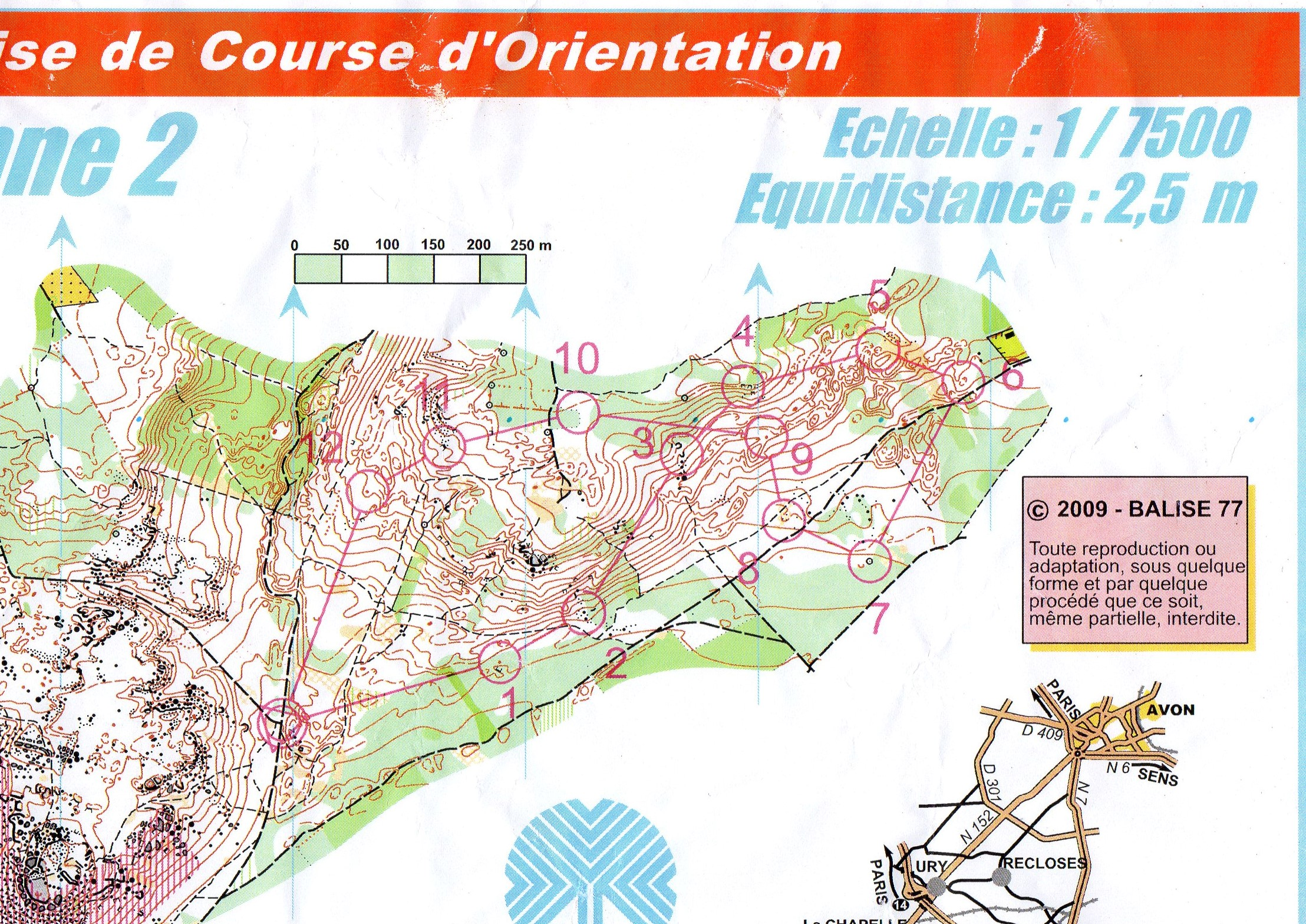 Courte distance 2 Stage Ligue  (22-10-2018)