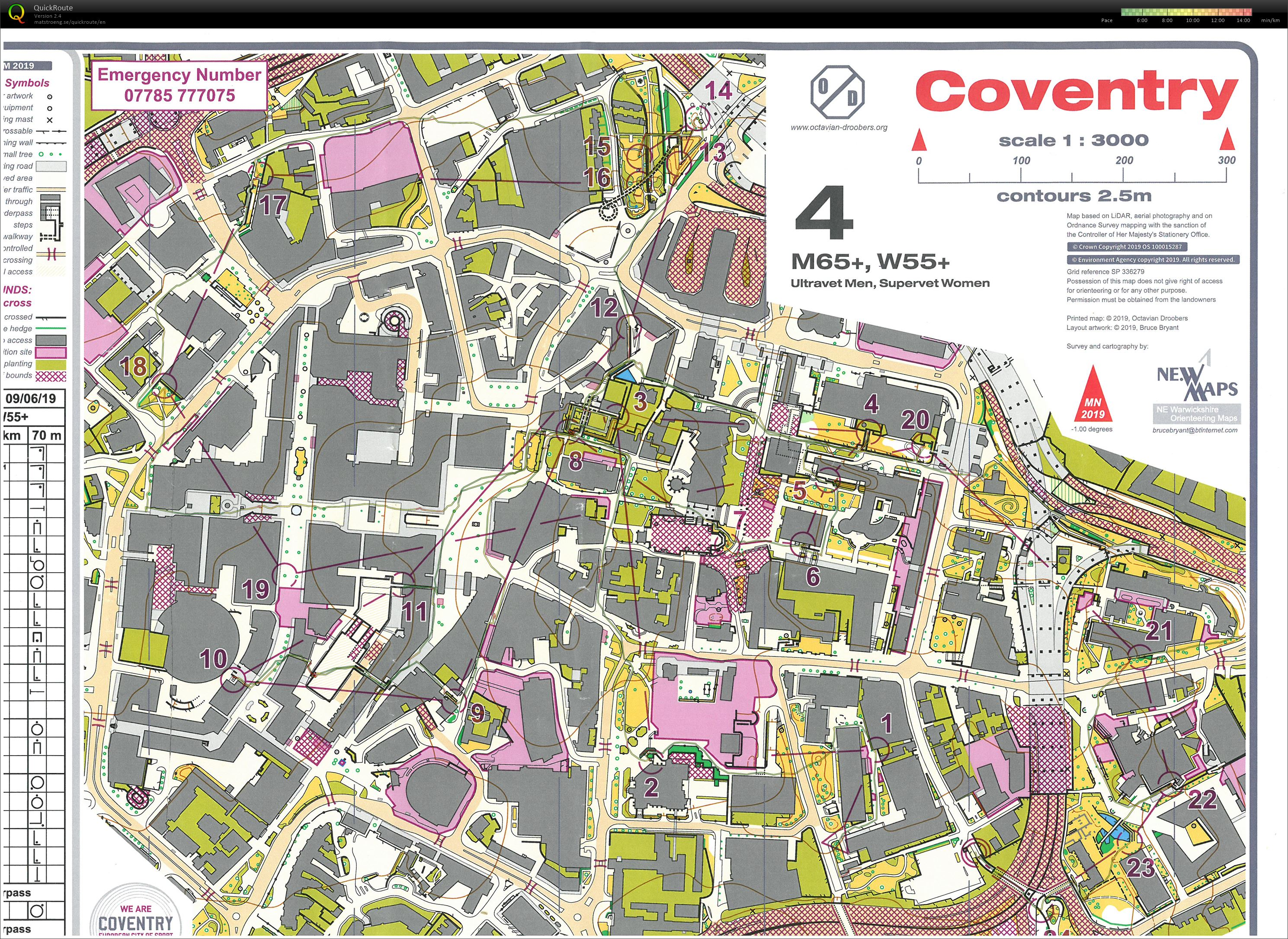 Coventry Weekend of Orienteering (09-06-2019)