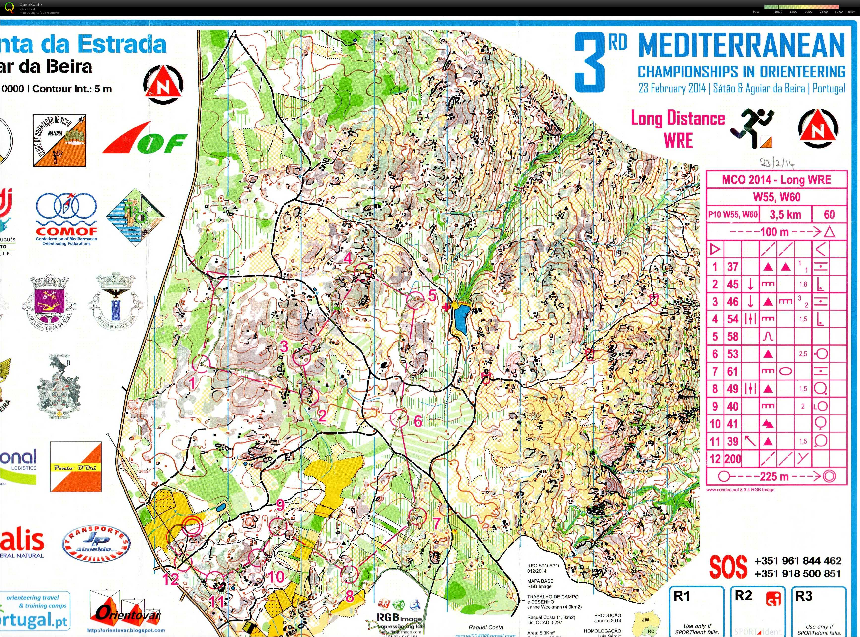 3rd Mediteranean Championships in Orienteering - Long Distance (23-02-2014)