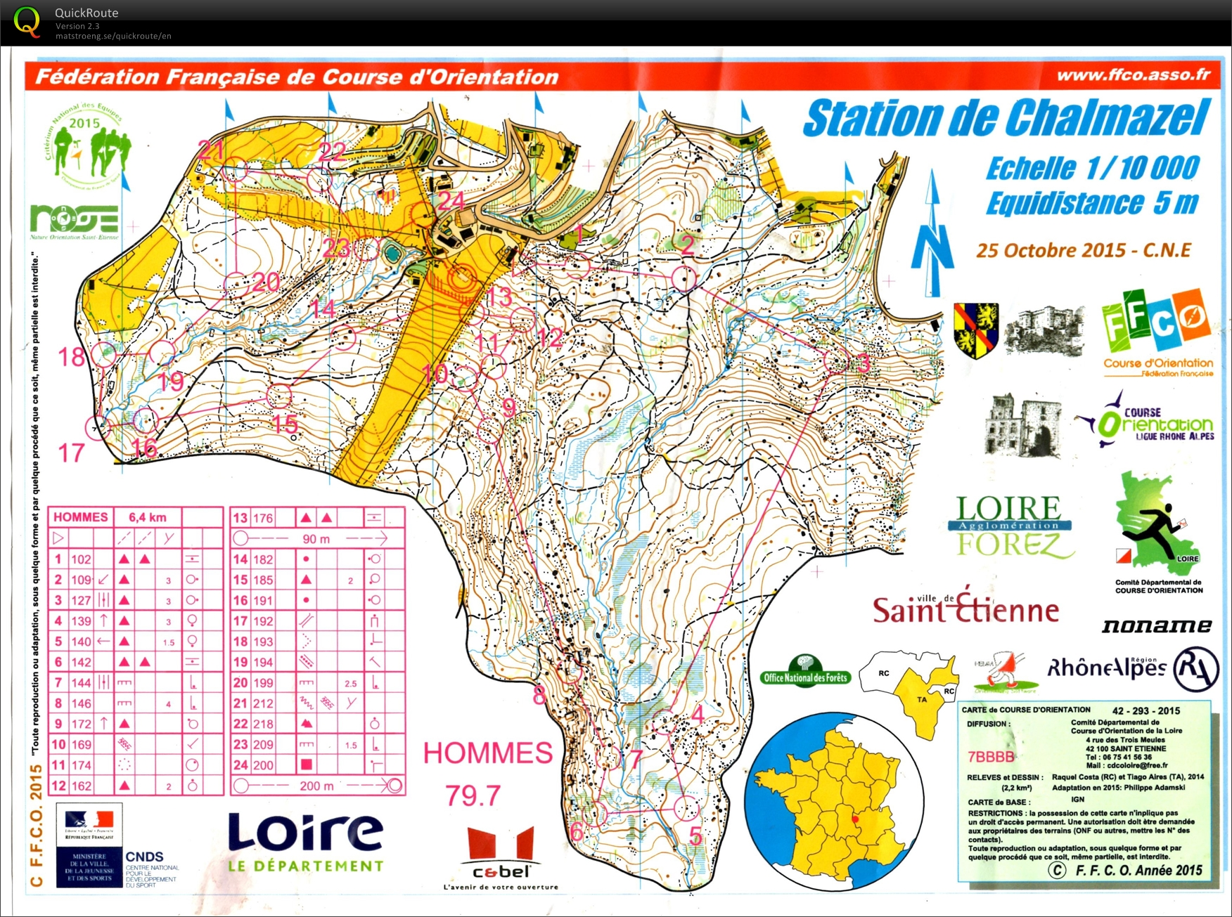 Cne 2015 october 25th 2015 orienteering map from pascal pannier view map without route gumiabroncs Gallery